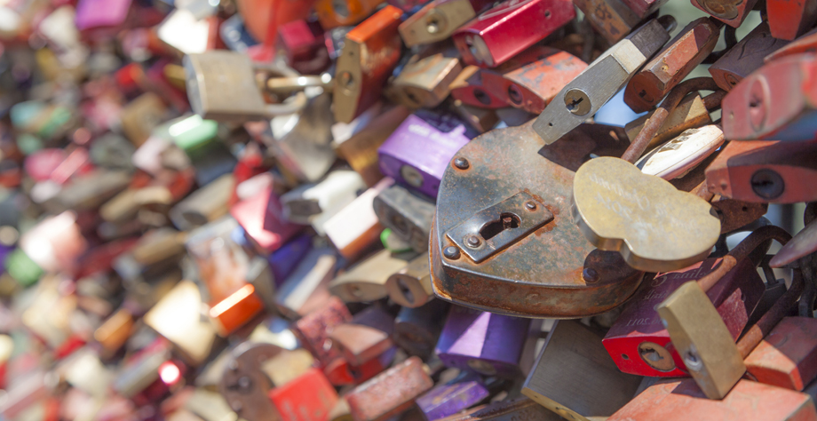 Lovelocks at the Hohenzollern Bridge in Cologne, Germany