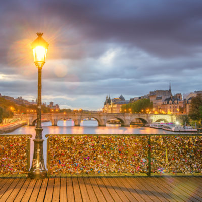 Pont des Arts bridge in Paris, France