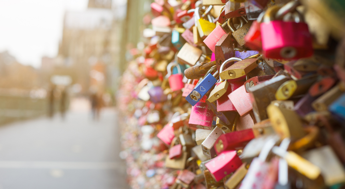 Cologne bridge, full of lovelock padlocks